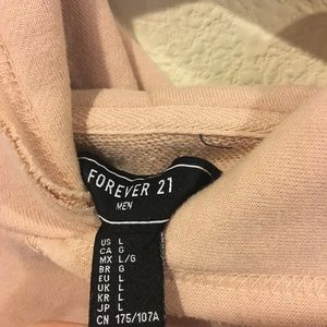 Forever 21 Sweaters - Forever 21 men's light pink hoodie